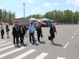 "Tour to the Border Crossing point ""Novaya Guta"" . Cargo Terminal Parking Area."
