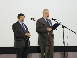 "Zeynal Hajiyev, Chief of IOM Mission in Belarus, and Yuriy Oksamitniy, UNICEF Representative in Belarus, opening the 7th Film Festival ""Human Dignity, Equality, Justice"""