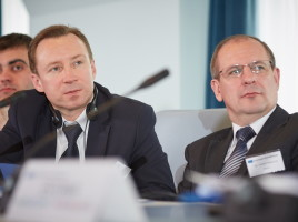 Tatura Aleksander, Deputy Head of Department - Head of Directory on Labour Migration, Refugees and Asylum (left) and Vladimir Margevich Deputy Head of Directory - Head of Office on Labour Migration, Refugees and Asylum (right)