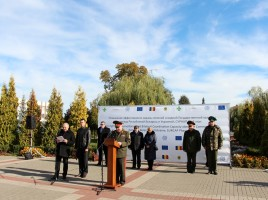 Photo: IOM Belarus. Equipment handover ceremony in Pinsk
