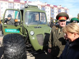 "Photo: IOM Belarus. Swamp vehicle ""Rosa 21"""
