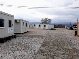 Visit to the open-type camp for migrants near Gevgelija town, Macedonian-Greek Border